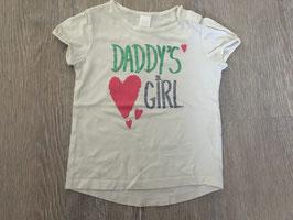 1814 Shirt weiß DADDY'S GIRL Glitzer  von Zara Gr. 86