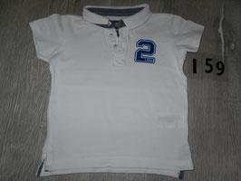 159 Polo shirt weiß 2 von H&M Gr. 86