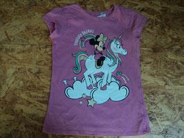 Y-55 Shirt in rosa mit Minnie Mouse und Einhorn von C&A Gr. 122