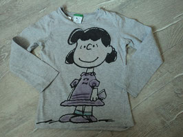 2674 LA Shirt grau mit Lucy van Pelt von BENETTON Gr. 110
