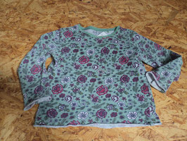 L-20 LA Shirt in grün mit Bumen und Rollsaum Bündchen von BLUE SEVEN Gr. 98