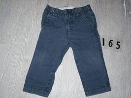 165 Lange Hose dunkel blau Gr. 80