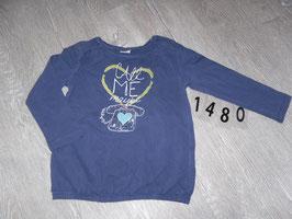 """1480 La Shirt lila """"Call me """" mit Pailetten von S'OLIVER Gr. 92/98"""