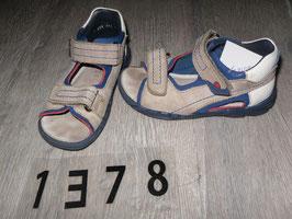 1378 Sandalen braun blau von ELEFANTEN Gr. 24