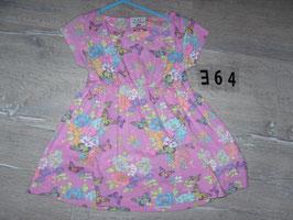 364 Sommerkleid rosa mit Schmetterlinge Gr. 104