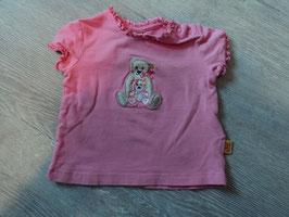3077 Shirt mit Rüschen pink und Steiffbären von STEIFF Gr. 56