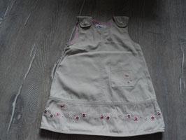 719 Kleid beige mit Tasche Schmetterlinge und Blumen von H&M  Gr. 80