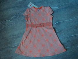 2371 Neues Kleid mit Etikett knalliges neon orange mit Schleife von BLUTSGESCHWISTER   Gr. 98
