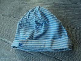 V-132 Mütze hellblau/weiß gestreift mit blauen Stern von SPIEGELBURG Gr. New Born