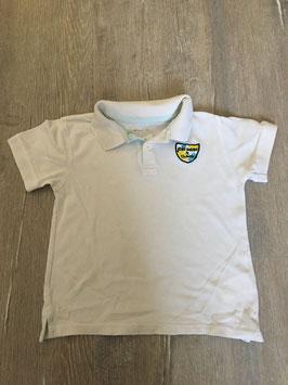 2100 Polo Shirt weiß mit Wappen von VERTBAUDET Gr. 98/104