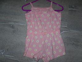 393 Sommer Hosenanzug rosa mit Gänseblümchen Gr. 80