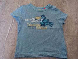 2516 Shirt blau mit Toucanvon ESPRIT Gr. 86
