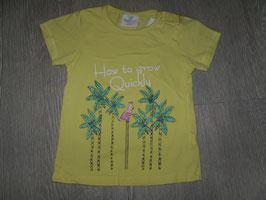 1188 Shirt gelb Palmen/Kakadu Glitzer  Gr. 92