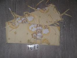 1090 Nestchen für's Babybett gelb mit Bären