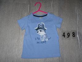 498 Shirt blau mit I Love Mum Pirat  Gr. 68