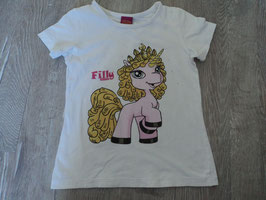2491 Shirt weiß mit Filly Unicorn und Strasssteine von FILLY Gr. 116