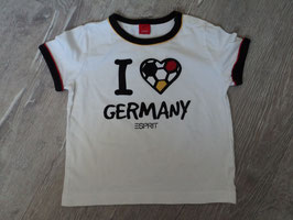 """2356 Shirt """"I Love Germany """" von ESPRIT Gr. 80"""