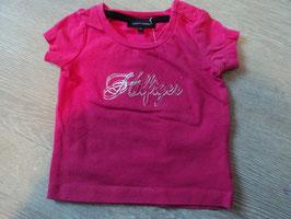 3076 Shirt pink Holfiger Glitzerschrift von TOMMY HILFIGER Gr. 3-6 Monate