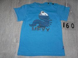 1660 Shirt blau mit Dino von MEXX Gr. 86