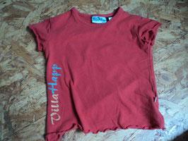 V-45 Shirt in korall Uni mit Rollsaum  von VILLA HOPP Gr. 92