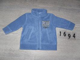 1694 Fleece Jacke blau Gr. 62