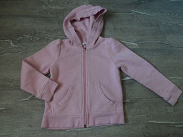 2619 Kapuzensweatjacke rosa von H&M Gr. 98/104