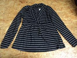 AL-50 Umstands/Stillshirt in schwarz/weiß gestreift von H&M MAMA Gr. M