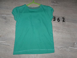 362 Shirt grün Uni von TU Gr. 104
