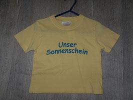 """595 Shirt gelb """"Unser Sonnenschein""""Gr. 86"""