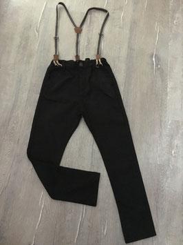 2010 Schicke dunkle Hose mit Hosenträger von ZARA Gr. 128