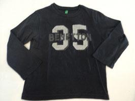 363 LA Shirt dunkelblau mit Zahl 35 von BENETTON Gr. 92/98