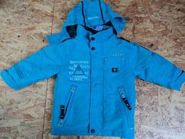 433 2 in 1 Jacke mit rausnehmbarer Softshelljacke in türkis und dunkelblau von C&A Gr. 98
