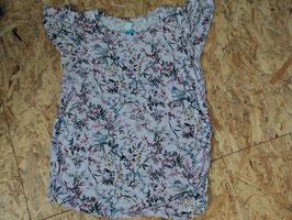 Y-1 Shirt rose mit Blumen und Volant Ärmel von H&M Gr. L