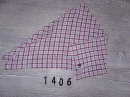 1406 Großes Dreieckstuch karriert rot