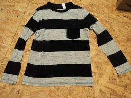 66 LA Shirt schwarz grau meliert mit Brusttasche von H&M Gr. 134/140