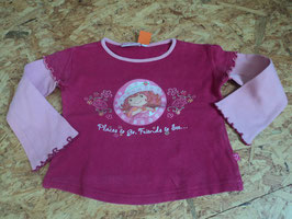 SR-48 LA Shirt in pink mit Mädchen von CHARLOTTE AUX FRAISE Gr. 98/104