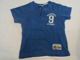 401 Shirt blau mit vorderen Knopfleiste Barbury 9 von H&M Gr. 86/92