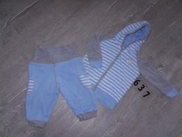 637 Tolles Winterset blau grau  von TOPOMINI Gr. 74/80