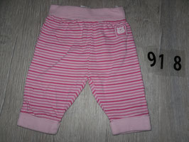 918 Schnuckelige Hose rosa punk gestreift Gr. 62