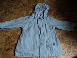V-30 2 in 1 Übergangjacke/Mantel mit tollen Details in grau mit Innenweste die man auch einzeln tragen kann in pink von VERTBAUDET Gr. 86
