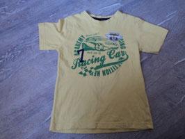 2508 Shirt gelb Racing Car grün braun, kleine stelle genäht von PALOMINO Gr. 110