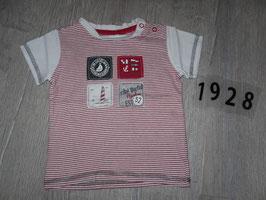 1928 Shirt weiß rot gestreift San Diego von C&A Gr. 80