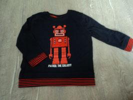 1229 LA Shirt dunkelblau mit rot und ROBOTER von TOPOLINO Gr. 98