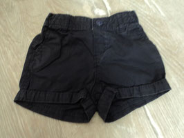 2281 Kurze Shorts in dunkelblau von H&M Gr. 74