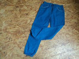 F-233 Leichte Stoffhose in Jeansoptik mit Rüschen und Gummizug Bund von TOPOLINO Gr. 128