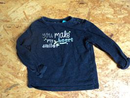 V-160 LA Shirt dunkelblau mit der Aufschrift YOU make my heart Smile von S'OLIVER Gr. 68