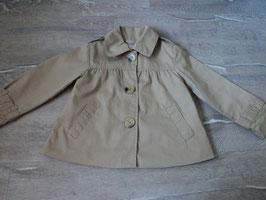 2625 Übergans Mantel Trenchcout beige von H&M Gr. 104