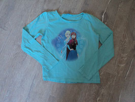 2459 LA Shirt türkis mit Elsa & Anna von DISNEY  Gr. 122/128