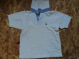 A-10 Poloshirt weiß von TOMMY HILFIGER Gr. 92/98