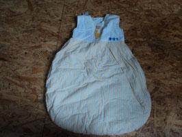 AL-72 Schlafsack weiß/gelb mit Bär von ANETTE FRANK Gr. 70